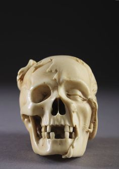 Exceptional and Finely Carved German Ivory Vanitas (1600 to 1700)