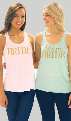 Bridal Party Shirts in gold rhinestuds available exclusively at The House of Bachelorette