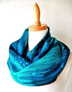 Hey, I found this really awesome Etsy listing at https://www.etsy.com/listing/69883603/silk-scarf-hand-painted-in-deep-ocean