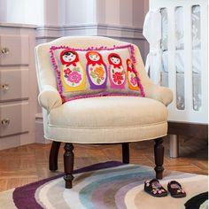 Matroyshka Doll pillows from Cheeky Monkey Home