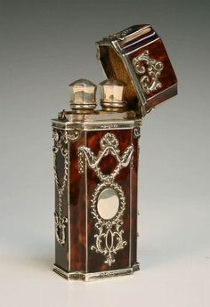 19th century tortoise perfume bottle
