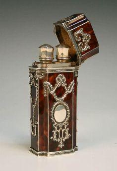 19th century tortoise perfume bottle