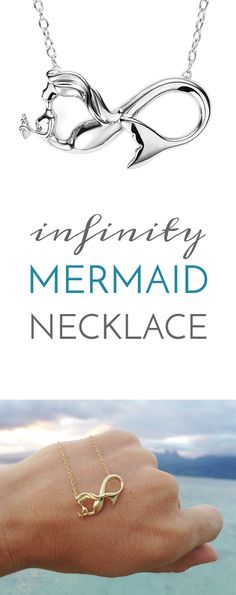 Perfect Mermaid Necklace for ALL ages! The Mermaid Infinity Necklace is a symbol of forever. An eternal love of the sea, a promise to forever. The perfect Mermaid Friendship Necklace! Shop at seatailshop.com