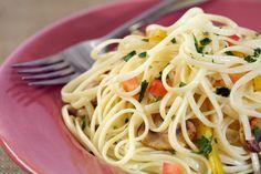 Good food! Love pasta. Especially when it's garden fresh. Mmmmm