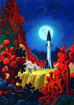Art by Robert Gibson Jones - Other Worlds April 1953 pretty trippy out here.