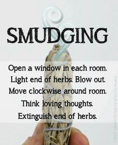Cleanse and bless your home using the Native American ceremony of smudging with white sage. It removes negative energy and odors immediately! Smudging Prayer, Sage Smudging, Reiki, Spiritual Cleansing, Energy Cleansing, Sage Cleansing Prayer, Burning Sage, Removing Negative Energy, Mabon