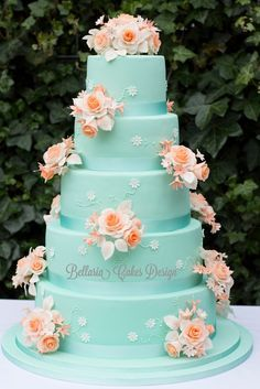 Teal Wedding Cake Ideas