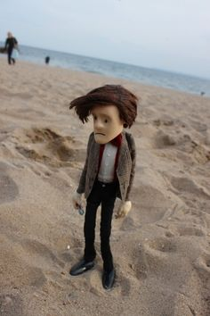 Doctor Puppet on the beach.
