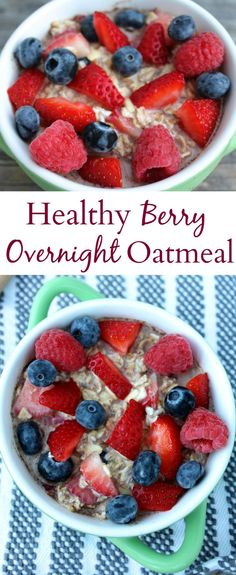 Enjoy these Healthy Berry Overnight Oats for breakfast any day of the week. Made with only 5 simple ingredients - they're the perfect way to start the day!