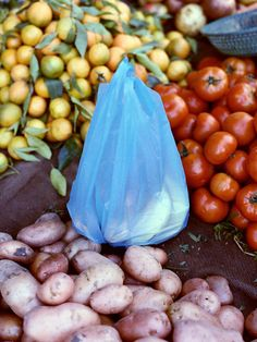 Cyan Plastic Bag, Morocco, 2012 by Osma Harvilahti Color Photography, Fashion Photography, Fruity Cocktails, Still Life Photos, International Festival, Color Balance, Pretty Photos, Fruit Art, Contemporary Photography