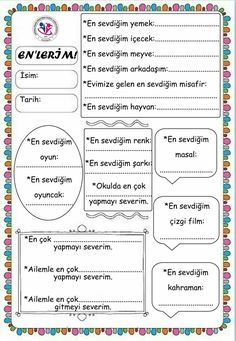 This post was discovered by dilek. Discover (and save!) your own Posts on Unirazi. School Notes, School Teacher, Pre School, School Days, Back To School, Montessori, Preschool Printables, Preschool Activities, Cbt Worksheets