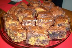 Yummy looking Easy Cookie Dough Brownies