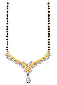#White CZ #Diamond Studded #Mangalsutra @ $50.05