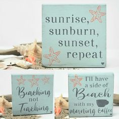 The Perfect Retirement gift for Teachers! 🏖🥳❤ These Awesome TEACHER and BEACH SIGNS are so cute and fun ! Makes a great gift and it's the perfect complement to any Summer Decor. The signs measure x x and make the perfect shelf sitter. Christmas Gift For Dad, Teacher Christmas Gifts, Holiday Gifts, Shabby Chic Beach, Rustic Nursery Decor, Teacher Signs, 21st Gifts, Coffee Signs, Coffee Lover Gifts