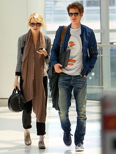 emma stone and andrew garfield. fashionable couple.