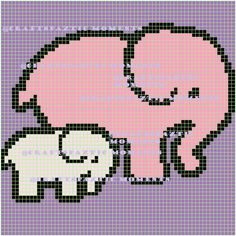 Elephant and Baby graph graphghan crochet throw blanket animal pdf SALE baby blanket pattern - Baby Decke Sitricken Baby Cross Stitch Patterns, Bead Loom Patterns, Afghan Crochet Patterns, Baby Patterns, C2c Crochet, Crochet Baby, Knitting Loom Socks, Knitting Charts, Elephant Blanket