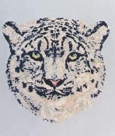 Wild Threads Counted Cross Stitch Pattern PDF  Snow Leopard