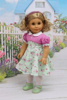 Vintage Rose - vintage style dress for American Girl doll