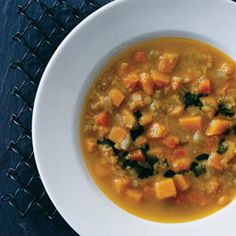 Curried-Squash and Red-Lentil Soup