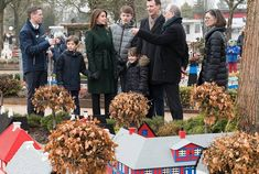 24 March 2018 - Prince Joachim, Princess Marie and their children attend the opening of LEGOLAND in Billund - coat by Ted Baker