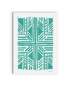 Modern geometric pattern block print | Statement Goods