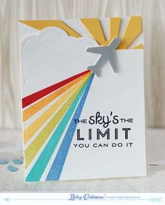 The Sky's The Limit Card by Betsy Veldman for Papertrey Ink (February 2015)