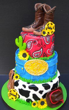 Cowboy cake... Super cute!... @jennifer patton, i know u will love this!!!...LOL
