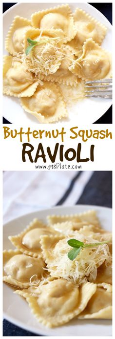 This homemade Butternut Squash Ravioli is sure to impress with fresh pasta and a brown butter and crispy sage sauce!