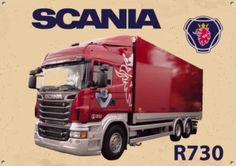 """SCANIA METAL SIGN SIZE 12/"""" X 4/"""" CLASSIC LORRYS GARAGE MAN CAVE SIGN."""