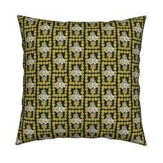 Catalan Throw Pillow featuring TinyDandyDaffySquare12HalfDrop by karenspix   Roostery Home Decor