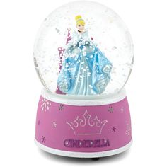 Disney Cinderella Snow Globe (67 BRL) ❤ liked on Polyvore featuring home, home decor, holiday decorations, snow-globe, disney snowglobe, disney home decor, disney snow globe and glass snow globes