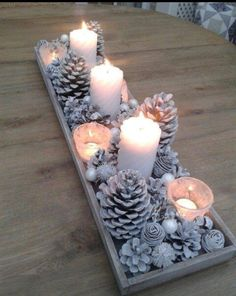 Candle light for the winter on a display