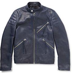 Acne Studios Oliver Slim-Fit Leather Biker Jacket | MR PORTER