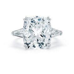 2 CT cushion cut diamond engagement ring.
