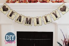 Free Printable letters for banners. Print and create your own banner letters for FREE! Letters A-Z, Numbers, and Symbols.