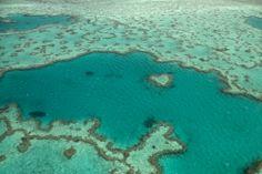 Great Barrier Reef, Australia - one is shaped like a heart!