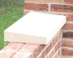 Cast stone coping stones for walls. Coping stones are used to protect walls from weather damage and also to look good. Coping Stone, Loft Storage, Garden Walls, Front Gates, Cast Stone, Indoor Outdoor Living, Fence, House Plans, Landscaping