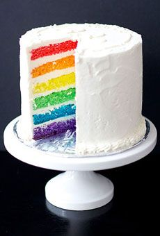 Ultimate rainbow layer cake
