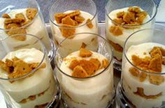 Greek Desserts, Cold Desserts, Greek Recipes, Summer Deserts, Dessert Recipes, Food And Drink, Cooking Recipes, Pudding, Sweets