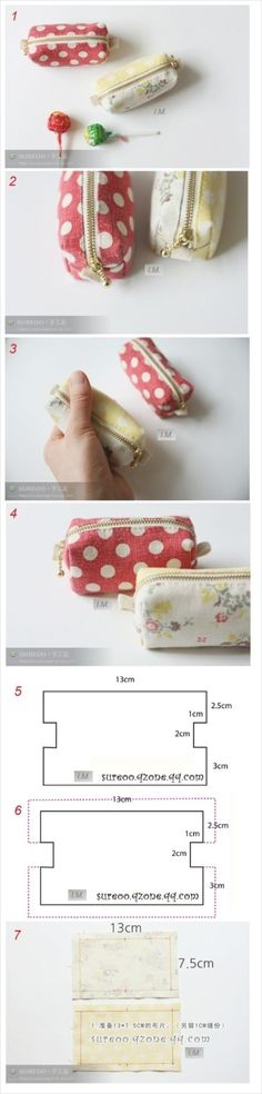 Sewing diy pouch pencil cases 33 Ideas for 2019 Sewing Hacks, Sewing Tutorials, Sewing Patterns, Fabric Crafts, Sewing Crafts, Sewing Projects, Sewing Diy, Pochette Diy, Creation Couture