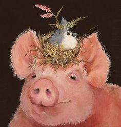 Pig and Titmouse by Vicki Sawyer