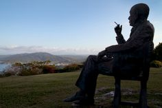 #wanderlusty - statue of noel coward, firefly, jamaica