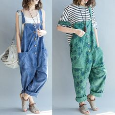 women loose cotton pants/women loose jumpwuits/ от babyangella