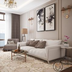 Inspirational ideas about Interior Interior Design and Home Decorating Style for Living Room Bedroom Kitchen and the entire home. Curated selection of home decor products. Classic Living Room, My Living Room, Living Room Decor, Apartment Interior, Interior Design Living Room, Living Room Designs, Neoclassical Interior, Classic Interior, New Classic Furniture
