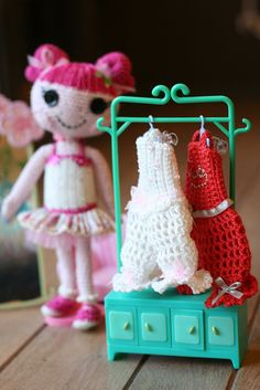 Sew precious! Lalaloopsy fashion by Sheila Amigurumi, via Flickr