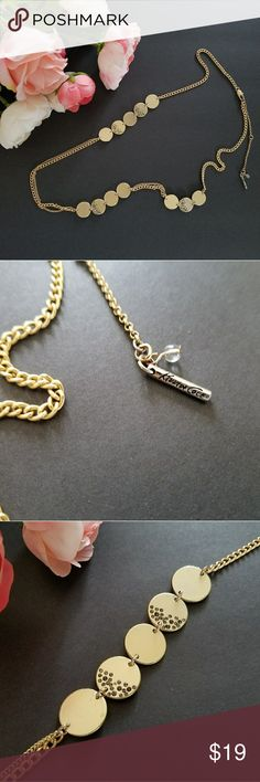 🎀KENNETH COLE NEW YORK NECKLACE🎀 Gold plated adjustable necklace, used Kenneth Cole Jewelry Necklaces