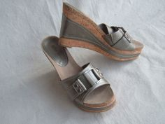 BOUTIQUE NORDSTOM -PEWTER LEATHER CORK WEDGES  SIZE  9M http://cgi.ebay.com/ws/eBayISAPI.dll?ViewItem&item=291140893421