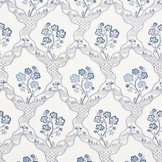 Schumacher Vogue Living Marella Floral Trellis Wallpaper in Delft Striped Wallpaper, Rose Wallpaper, Fabric Wallpaper, Wallpaper Roll, Wall Wallpaper, Pattern Wallpaper, Bedroom Wallpaper, Modern Wallpaper, Tapestry Fabric