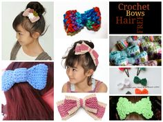 FREE Crochet Hair Bows Patterns
