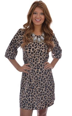 Cat Lady Leopard Print Dress shopbelleboutique.com